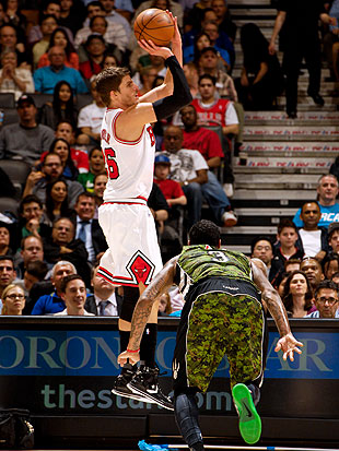 Kyle Korver got pretty open pretty often in the fourth quarter. (Getty Images)