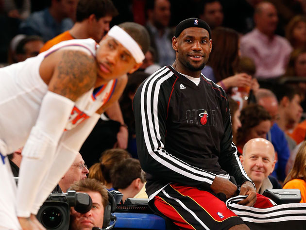 LeBron James appears to be handling this well (Getty Images)