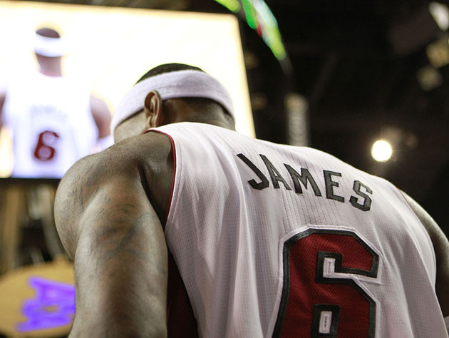 LeBron James is the NBA's MVP in 2011-12 (Getty Images)