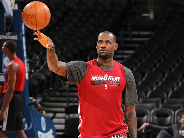 LeBron James works on his legacy-building before Thursday night's Game 2 (Getty Images)