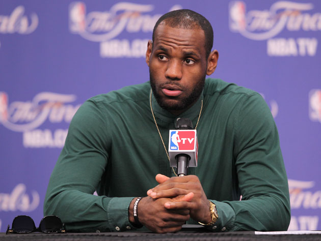 LeBron James takes the John Davidson look a little too far (Getty Images)