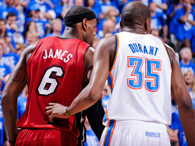 LeBron James and Kevin Durant might switch these positions in Game 2 and beyond (Getty Images)