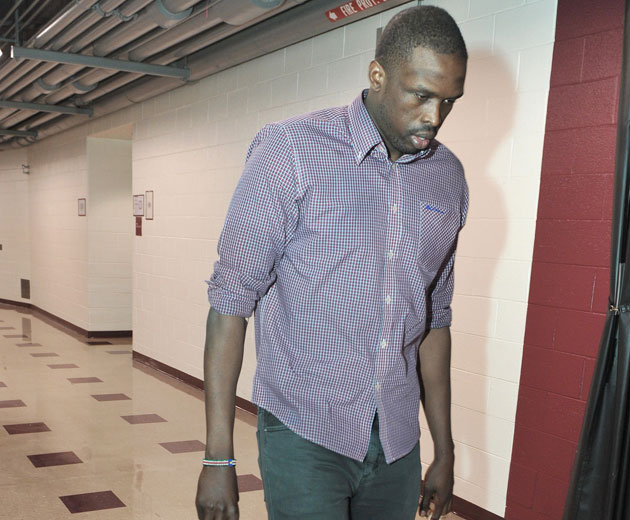 Luol Deng, prior to a game that the Chicago Bulls hoped he would play in (Getty Images)