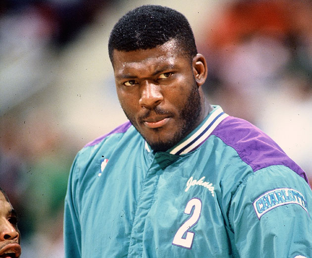 Larry Johnson glares at the kid who will someday ironically wear this jacket (Getty Images)