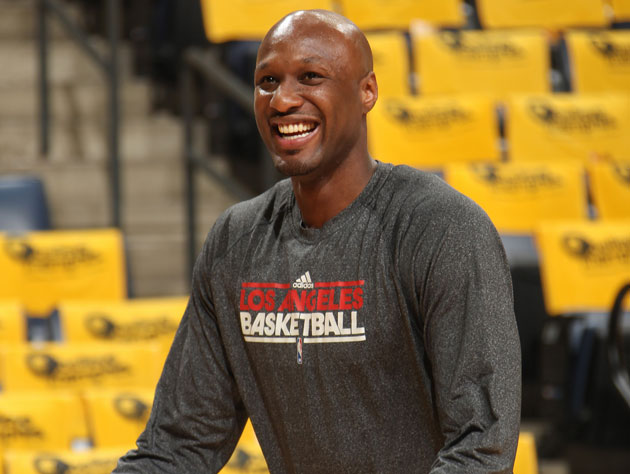 Lamar Odom, seemingly healthy (if ineffective) last April (Getty Images)