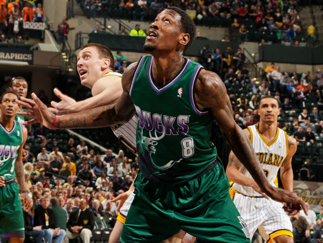 Larry Sanders on Friday, before things went a little daffy (Getty Images)