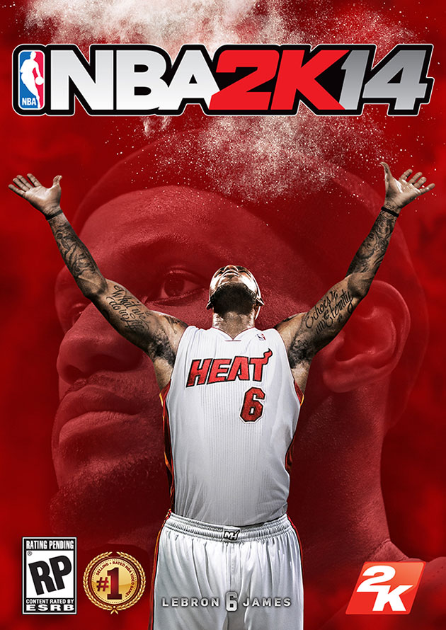 LeBron James has his first video game cover. (Image via 2K Sports)