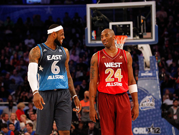 LeBron and Kobe are once again leading the way in All-Star voting. (Ronald Martinez)