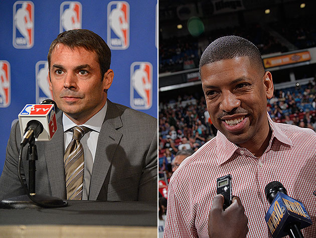 Left: Chris Hansen. Right: Sacramento Mayor Kevin Johnson. (Getty Images)