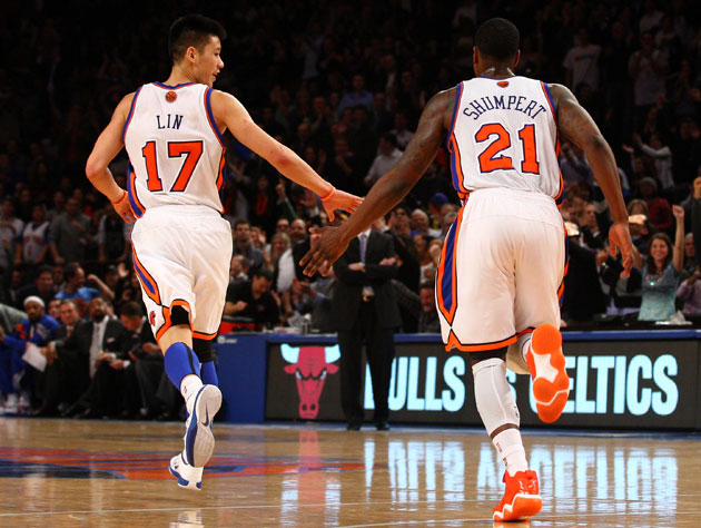 Jeremy Lin and Iman Shumpert connect in a more meaningful way (Getty Images)