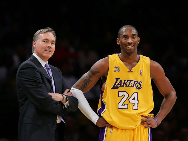 Mike D'Antoni and Kobe Bryant in a 2008 photo that hasn't been heavily modified (Getty Images)
