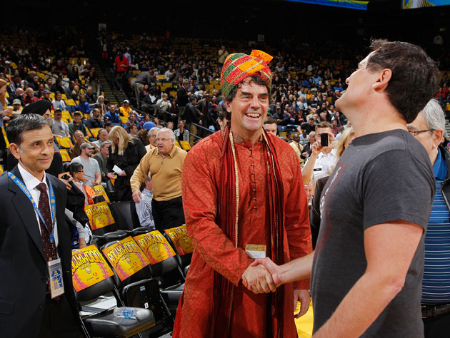 Mark Cuban, at the exact point the gypsy cursed him and his finances (Getty Images)