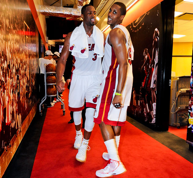 Dwyane Wade has another jape ready for Mario Chalmers (Getty Images)