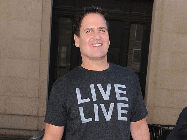 Mark Cuban with a t-shirt so nice they wrote on it twice (Getty Images)