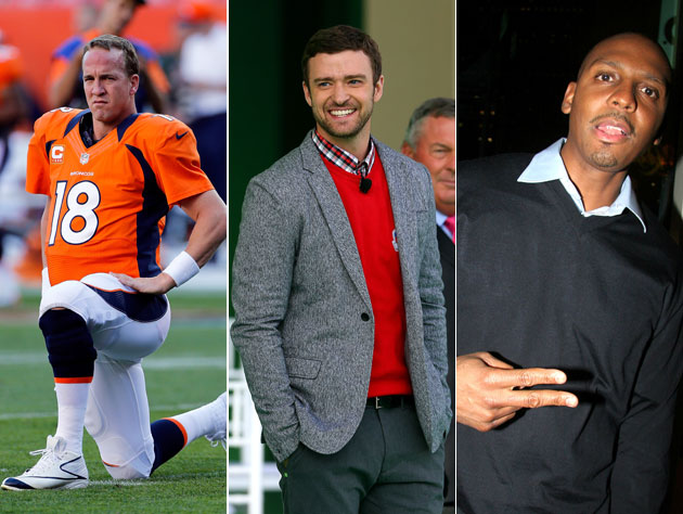 Peyton Manning, Justin Timberlake, Penny Hardaway; all ready to throw in with Memphis (Getty Images)