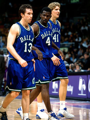 Dallas' big three, in 2001 (Getty Images)