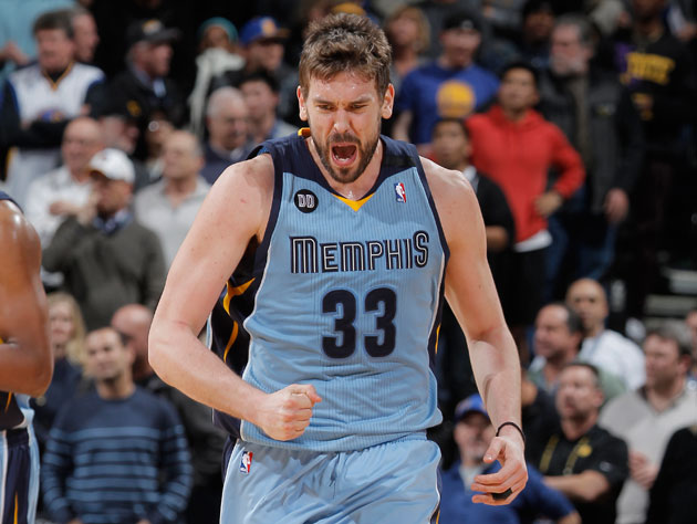 Marc Gasol exults (Getty Images)