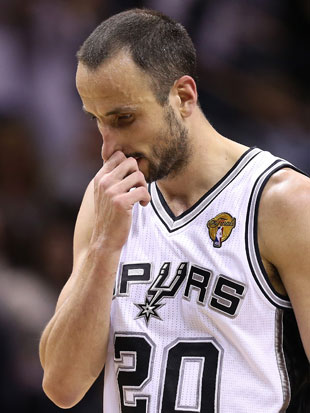 Manu Ginobili had his worst playoff game in 10 years (Getty Images)