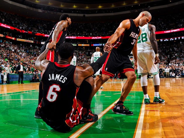 Miami regroups, in the midst of a Game 4 loss (Getty Images)