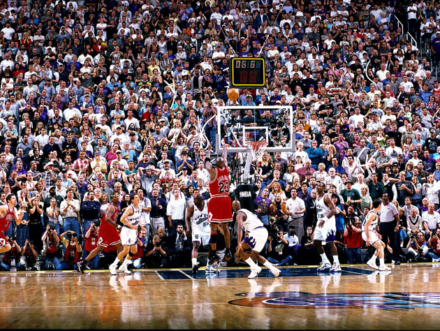 Michael Jordan's final shot as a Chicago Bull (Getty Images)