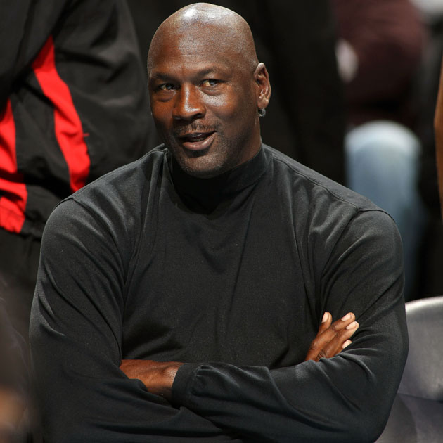Michael Jordan, looking relatively demure (Getty Images)