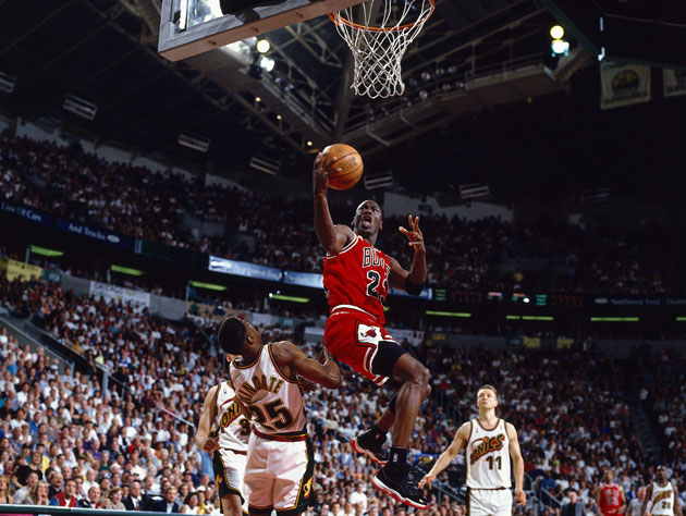 Michael Jordan, during the 1996 NBA Finals (Getty Images)