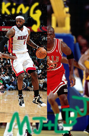 Initial submissions for LeBron's wallpaper (Courtesy Kyle, Grade 9)