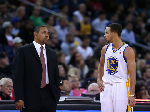 Mark Jackson and Stephen Curry hash it out (Getty Images)