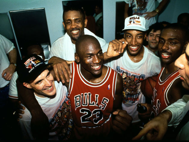 The 1991 NBA champions (Getty Images)