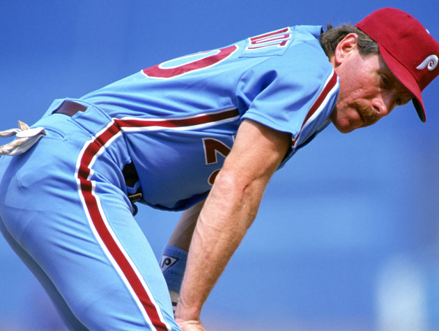 Mike Schmidt poses in the Los Angeles Clippers' newest alternate jersey (Getty Images)