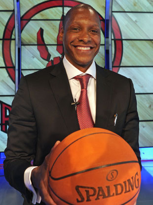 Masai Ujiri is cleaning up the mess left for him in the back of the car (Getty Images)