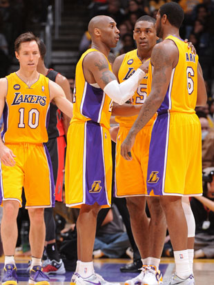 The disappointing Lakers are 36-35 (Getty Images)