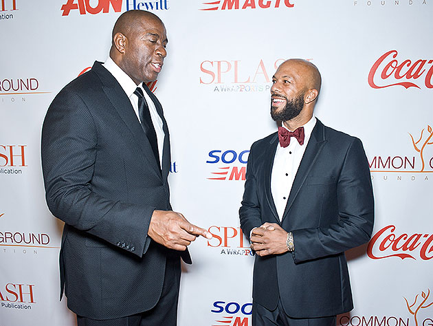 Magic Johnson recruits a rapper-actor with experience playing a point guard. (Timothy Hiatt/Getty Images)