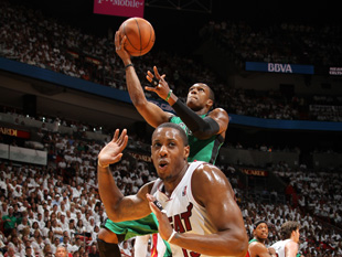 Mario Chalmers gets out of Dodge. (Getty Images)