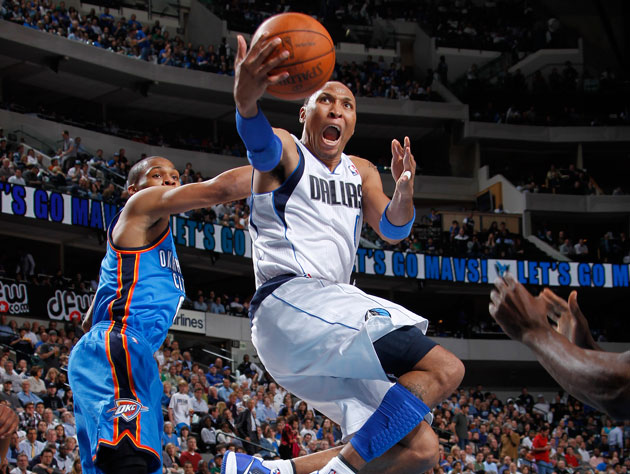 Shawn Marion swoops in for the finger roll that he probably made (Getty Images)