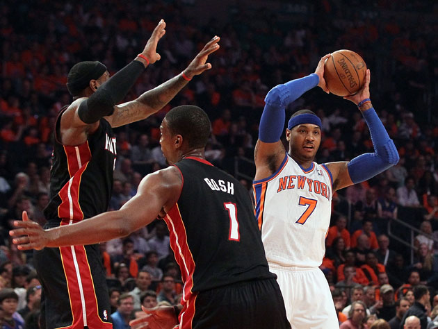 Carmelo Anthony has the Heat fooled (Getty Images)