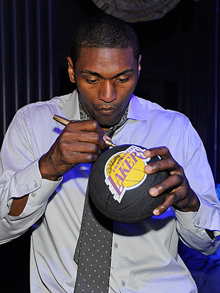 Metta World Peace calculates the Lakers' ideal winning percentage. (WireImage)