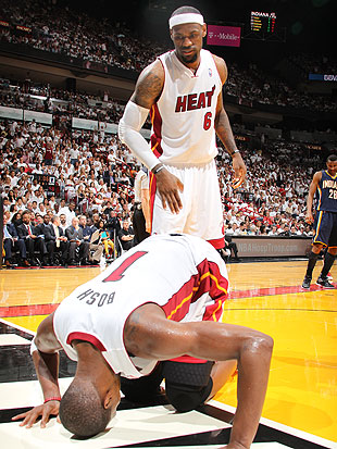 Miami's big men have struggled since Bosh went down. (Getty Images)
