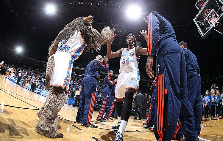 More like Hasheem Takeaseat. (Layne Murdoch/NBAE/Getty Images)
