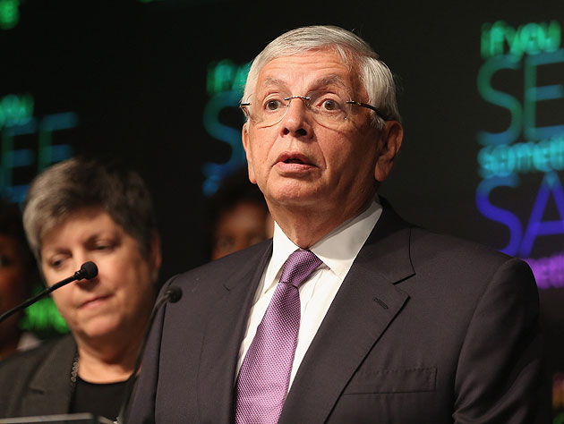 NBA Commissioner David Stern is given pause. (Getty Images)