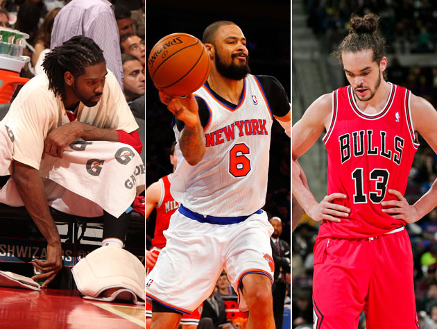 Nene, Tyson Chandler and Joakim Noah grit through it (Getty Images)