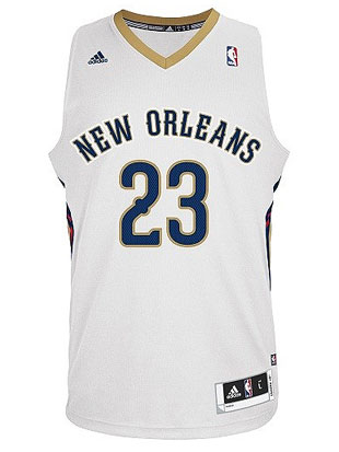 New Orleans' home uniforms (Courtesy NBA.com/Pelicans)