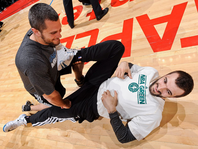 Nikola Pekovic probably misses the Timberwolves' personal touch (Getty Images)