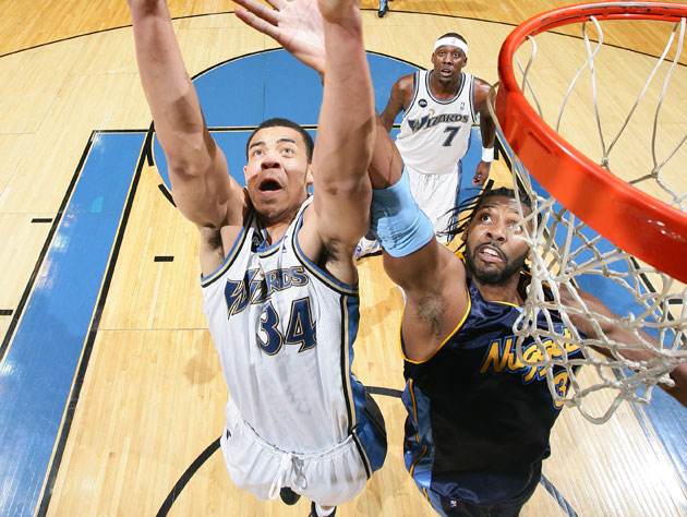 JaVale McGee and Nene will switch uniforms. Thankfully not these ones (Getty Images)