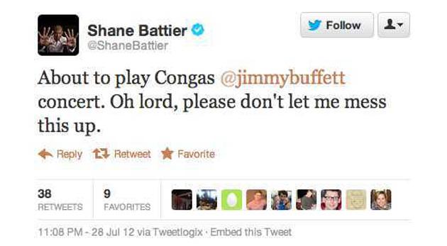 Not quite making love to pressure, there, Shane. (Screencap via @shanebattier)