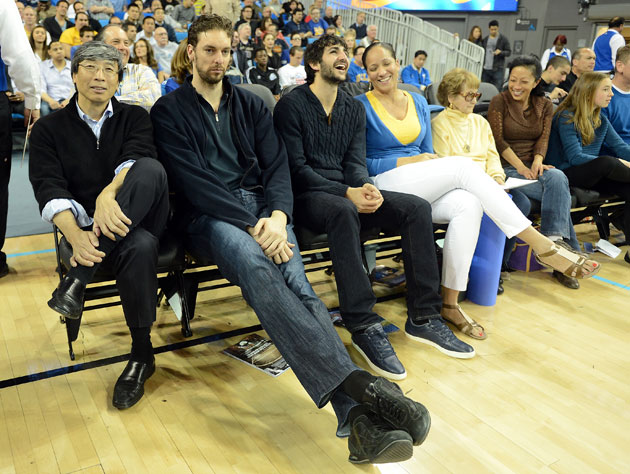 The one shot of a sullen Pau Gasol. This picture is worth millions (Getty Images)