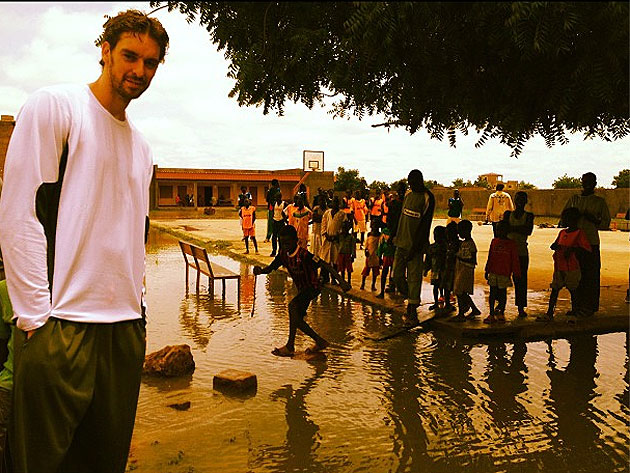 Pau Gasol, on Friday (courtesy twitter.com/paugasol)