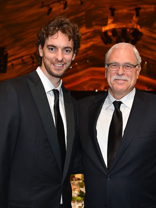 Pau Gasol and Phil Jackson, in October (Getty Images)