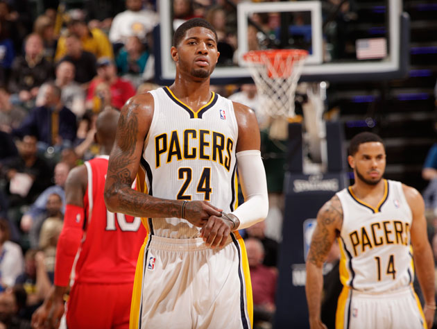 Paul George was not going to let the Hawks back into the series in Game 2 (Getty Images)