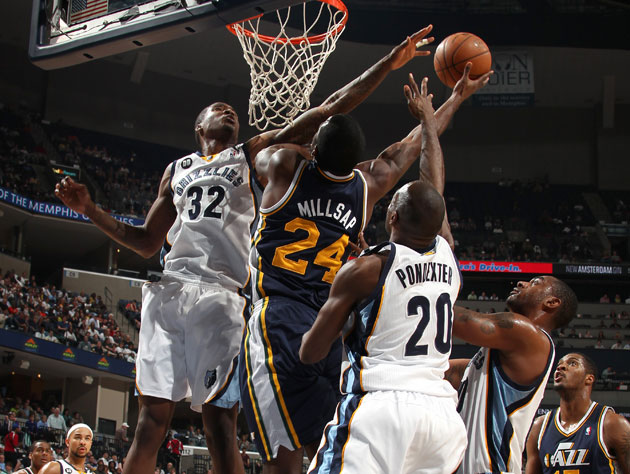 Paul Millsap could not find daylight against Memphis' withering defense (Getty Images)